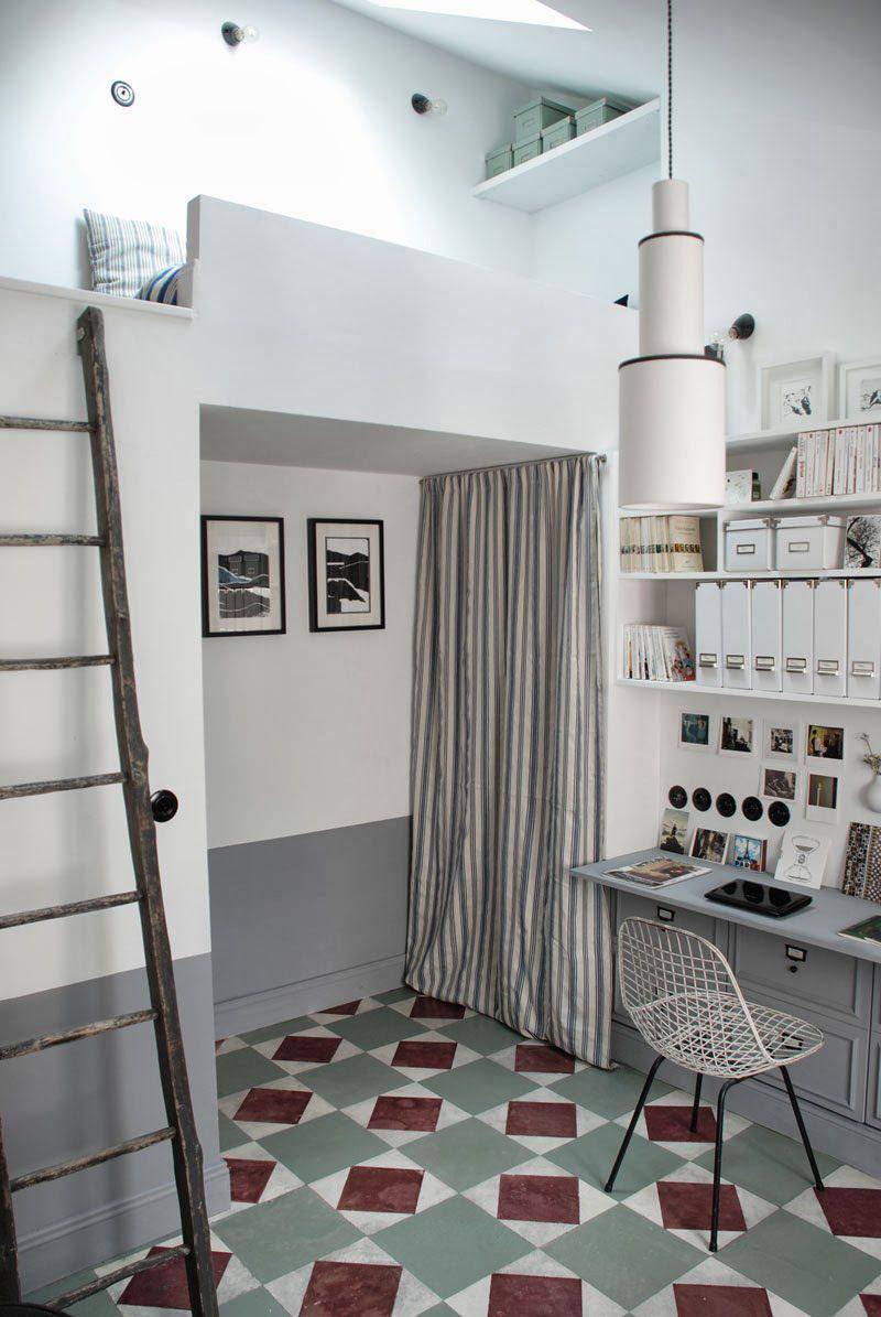 piccolo loft a parigi Arredamento Shabby Appartamento