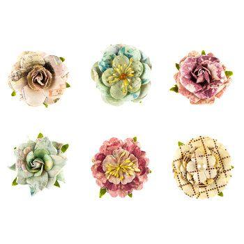 Prima Botanical Paloma Collection Flowers Scrapbook Paper Crafts