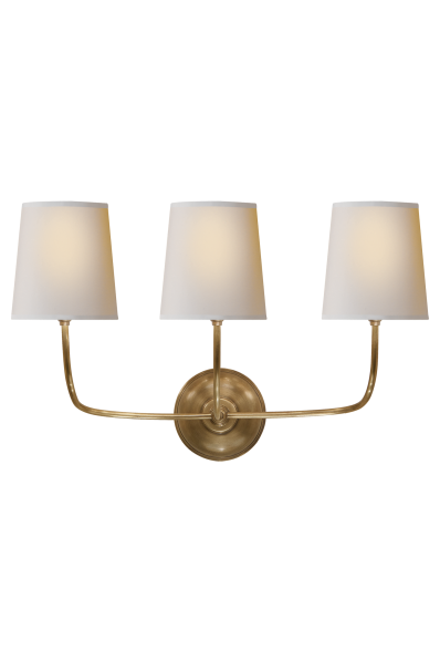 This matching Brass Chandelier and Wall Sconce will surely