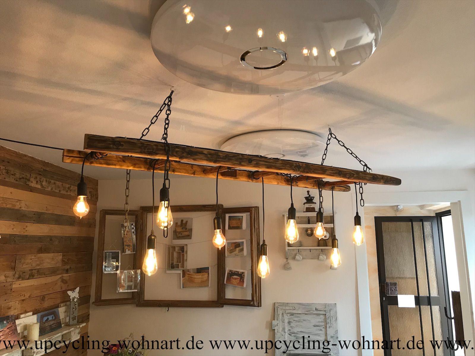 Pendelleuchte, Upcycling Leiterlampe