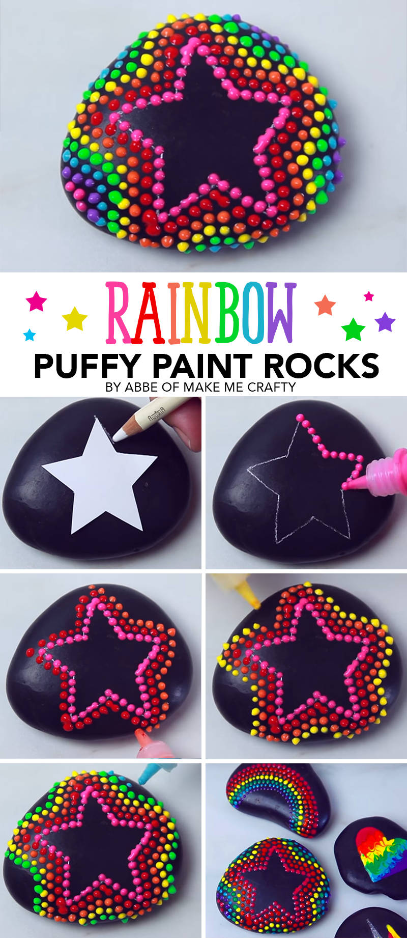 How to Paint Rocks with Puffy Paint