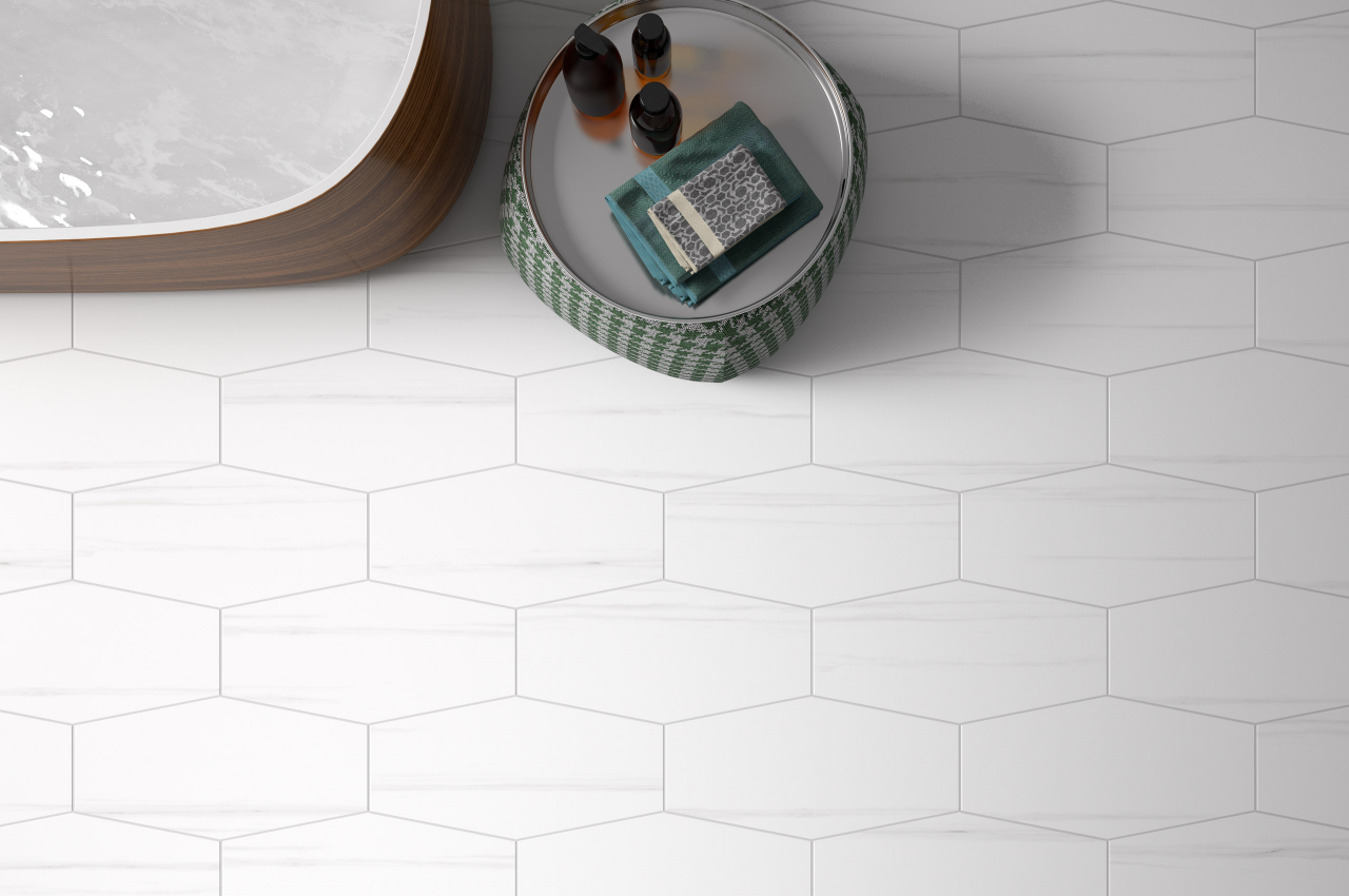 Spectile ci series belle arti collection incorporating hexagon incorporating hexagon shaped tiles that can be used both on walls and floors design architecture interiors decor homedesign homeinteriors ceramics dailygadgetfo Image collections