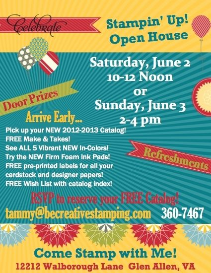 stampin up mds invitations created this flyer for my upcoming - free open house flyers