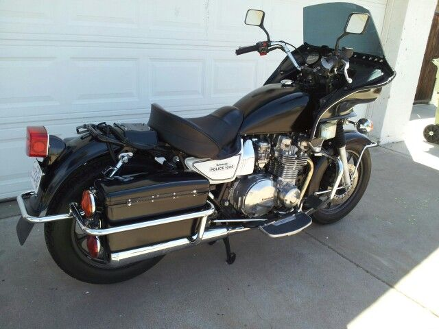 This Was My First Bike A Kz1000 Police I Painted It Black And Then