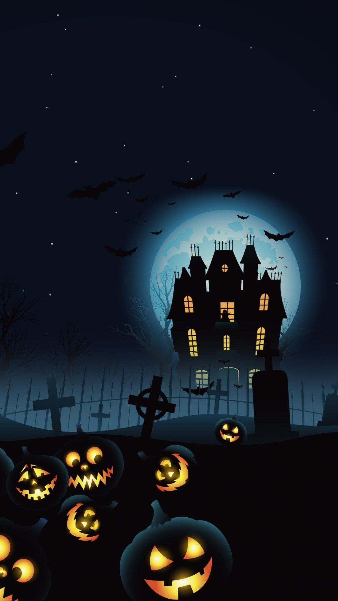Haunted House Hallowen Wallpaper Fondo Halloween Pantallas De Halloween Imagenes De Calavera