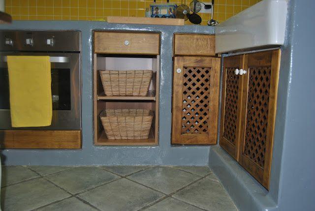 Muebles de obra en la cocina de verano | COCINAS RUSTICAS ...