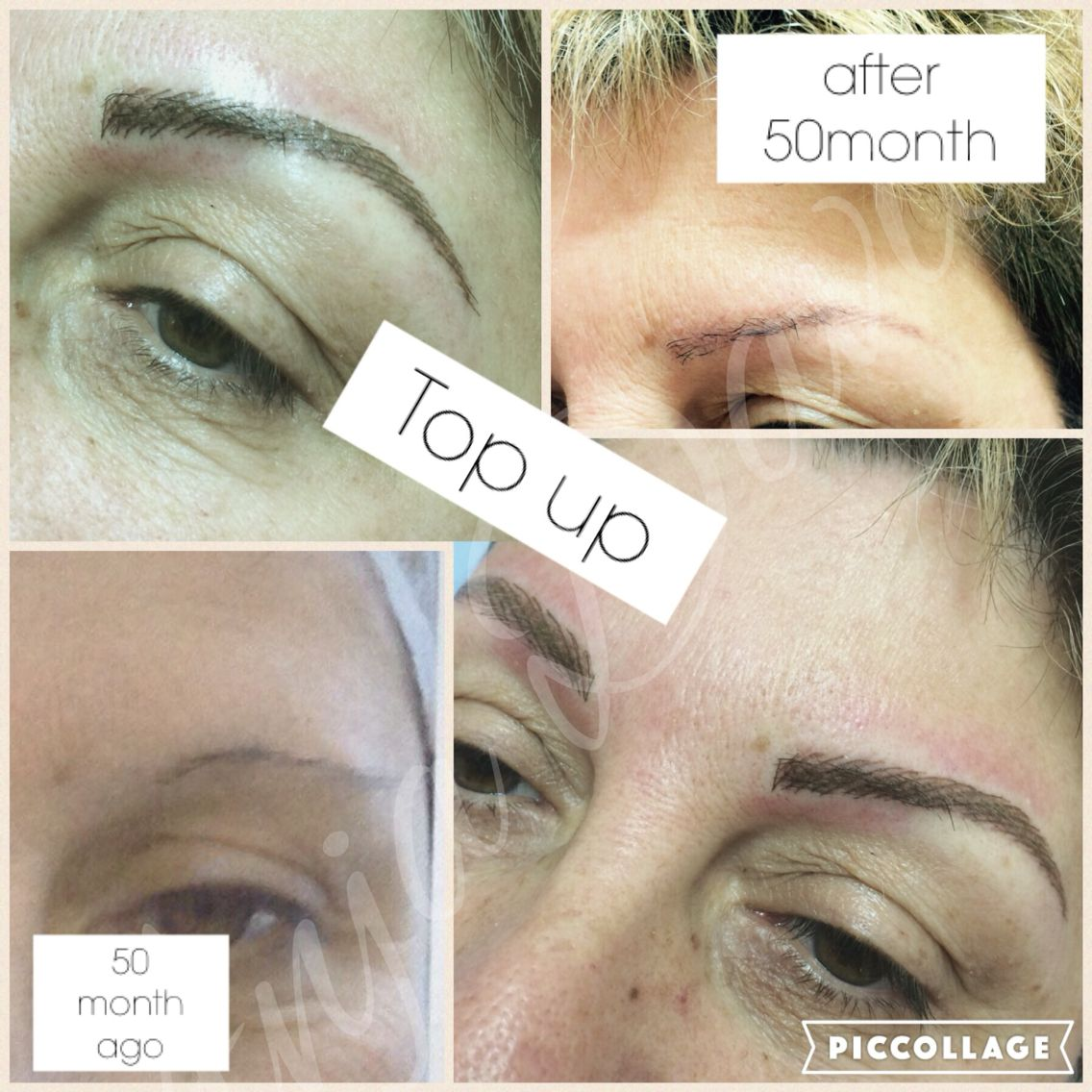 Semipermanentmakeup Tattooed Eyebrows Fading Over 2 Years Topup