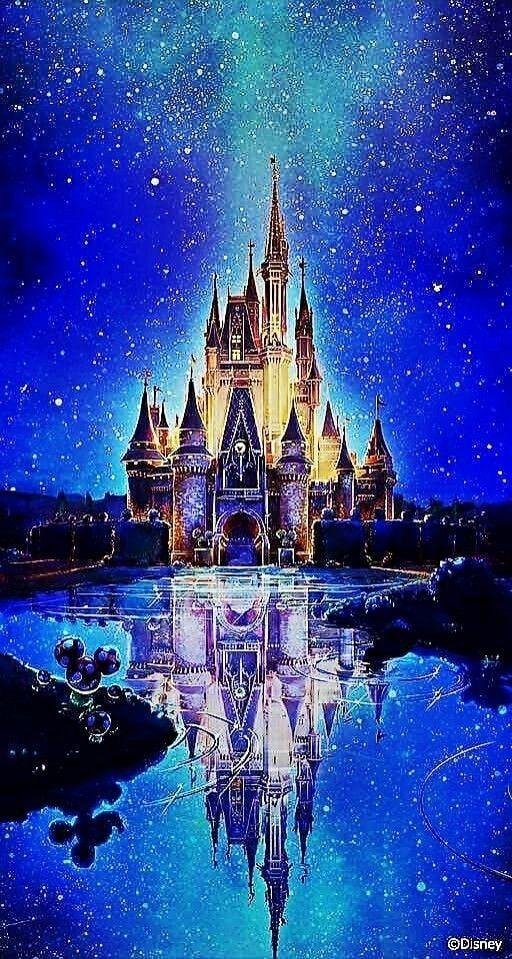 Cinderella's Castle Night Disney wallpaper, Disney