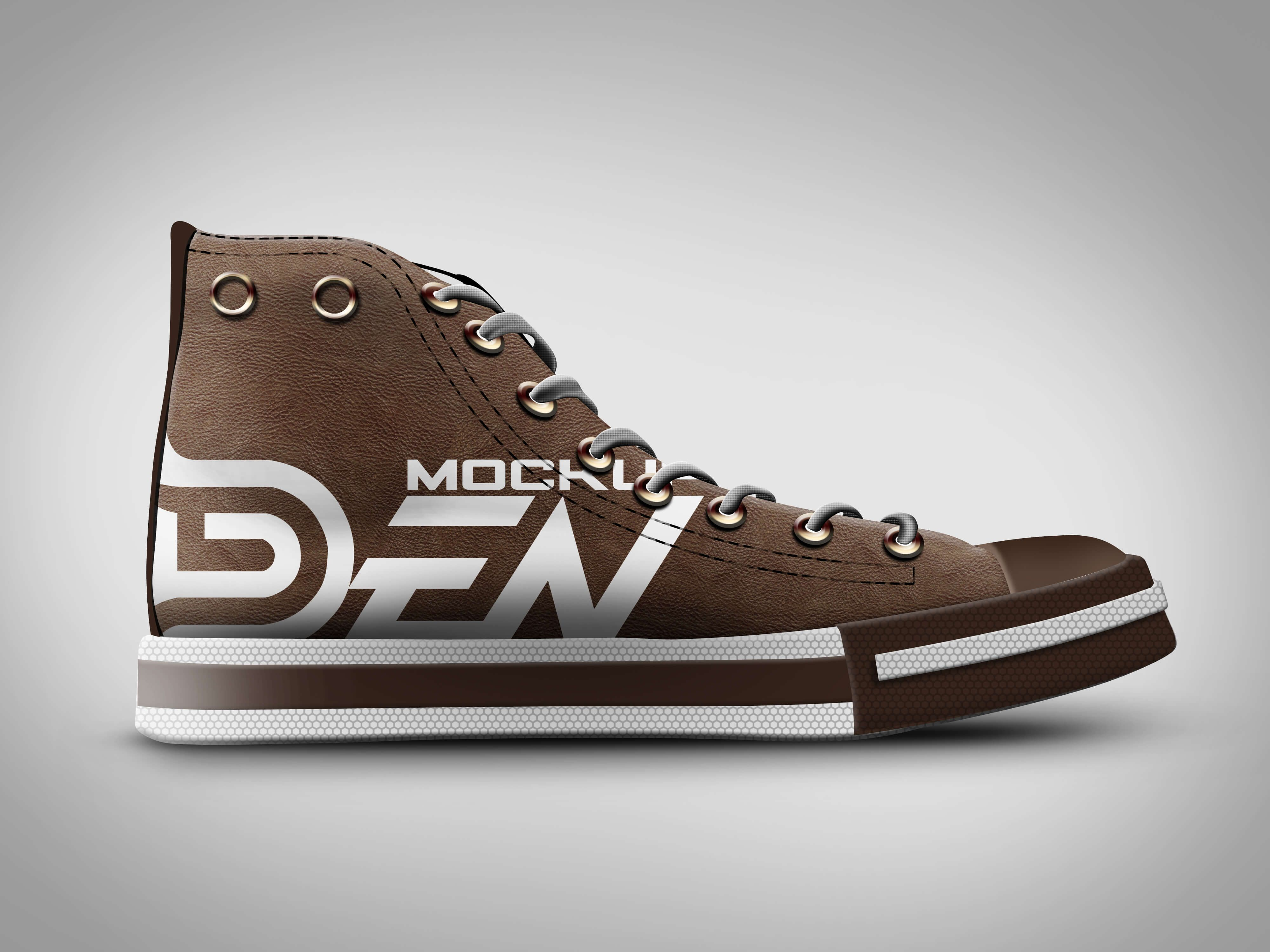 Free Brown Color Shoe Mockup Psd Template Brown Color Shoes Brown