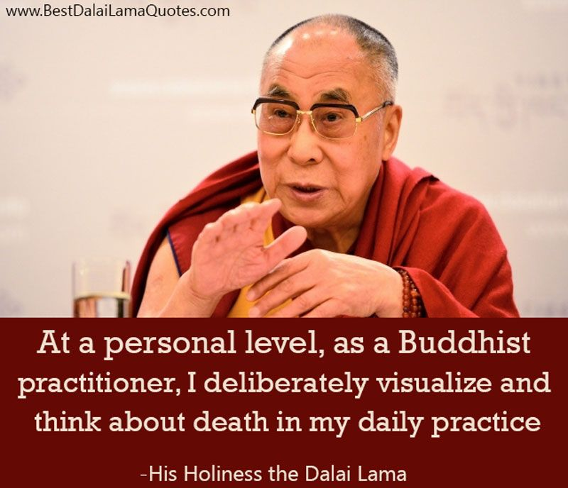 At A Personal Level As A Buddhist Practitioner I Deliberately