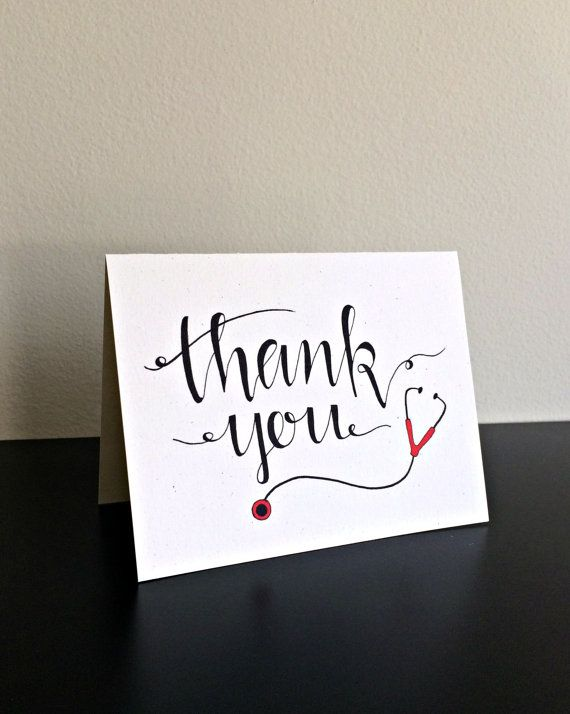 Medical Thank You Card Nurse Thank You Card For Nurse Doctor Thank You Card For Doctor Cards Your Cards Thank You Note Cards