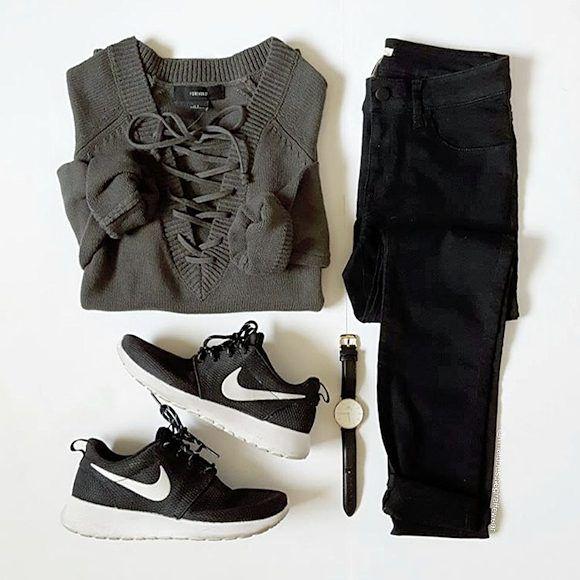 Noiresgt; Avec De Idée Outfits Baskets Des Style Nike gt;…Mode Tenue m8wn0vN