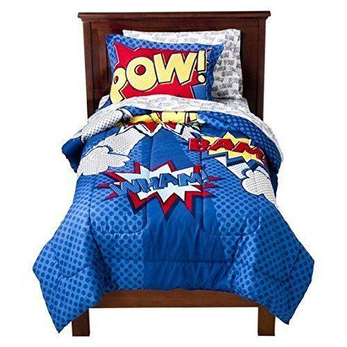 Circo Superhero Comics 5pcs Full Size Bed Set In A Bag