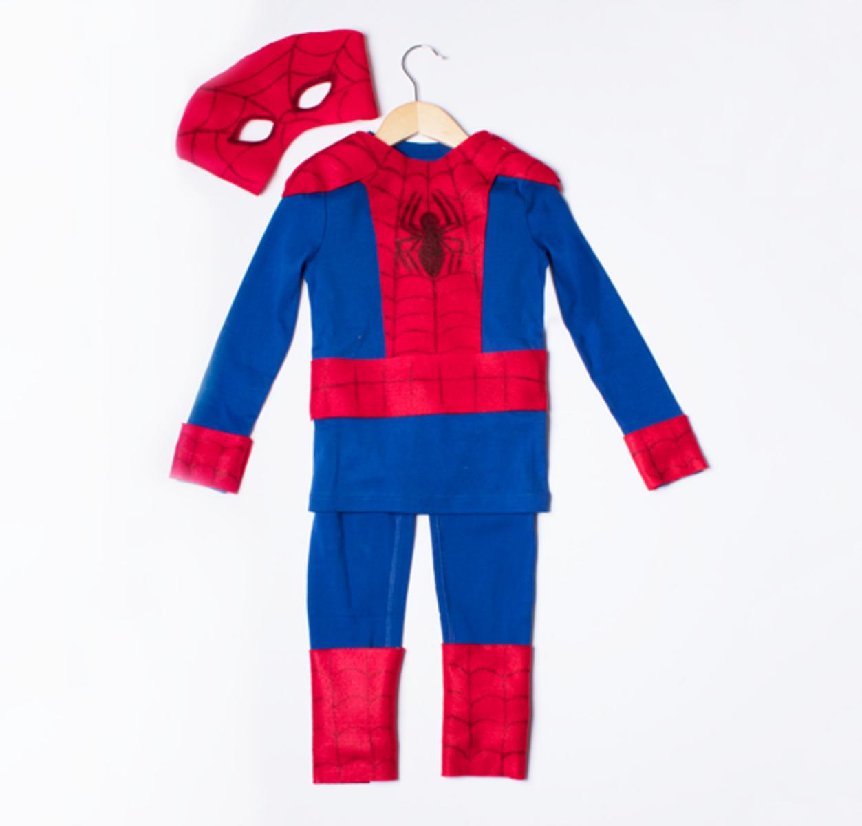 Easy simple diy homemade spiderman costume idea for kids no sew easy simple diy homemade spiderman costume idea for kids no sew jeuxipadfo Images