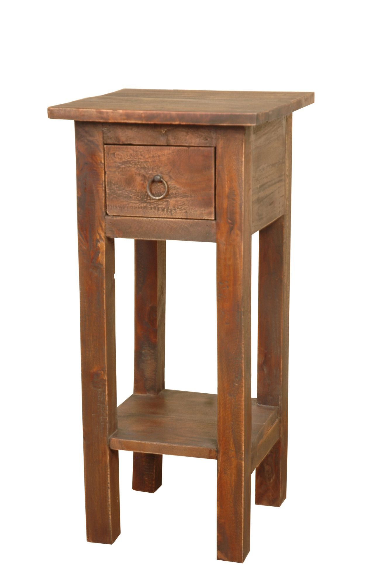 Cottage narrow side table in oak sunset trading home - Narrow side tables for living room ...