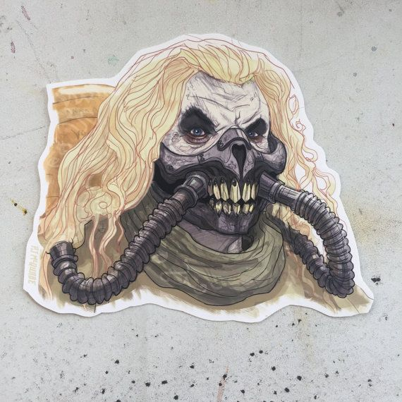 Immortan joe mad max fury road waterproof sticker