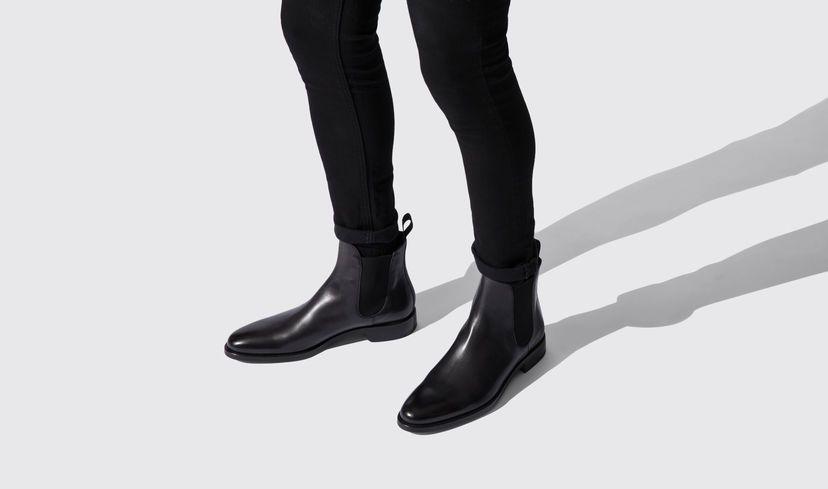 best deals on a6582 1023f Men's Black Chelsea Boots - Enzo | Scarosso | Footwear ...