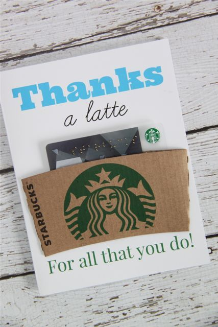 Free Printable: Thanks A Latte Coffee Gift Card - Smashed Peas & Carrots