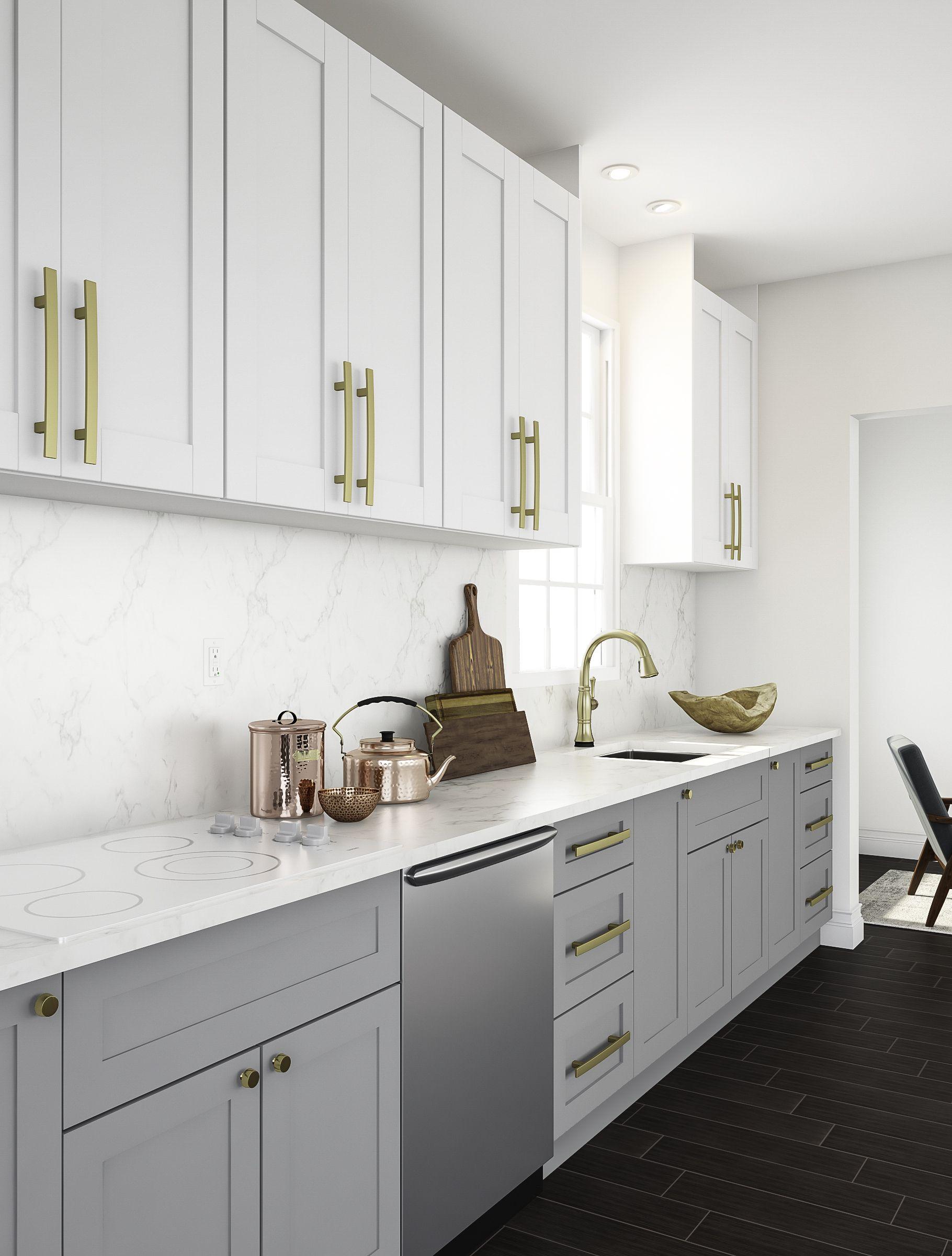 White Kitchen With Bronze Accents Kitchen Cabinet Design Classic Kitchens Luxury Kitchen Design