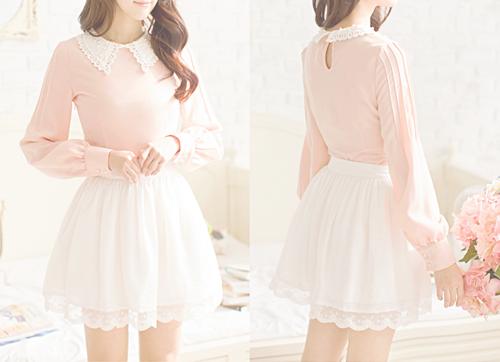 pretty cute fashion dress kawaii skirt asian flowers pink Clothes ... b72aa87eccd