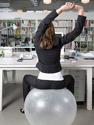 Get your workout in at work by sitting on a balance ball For