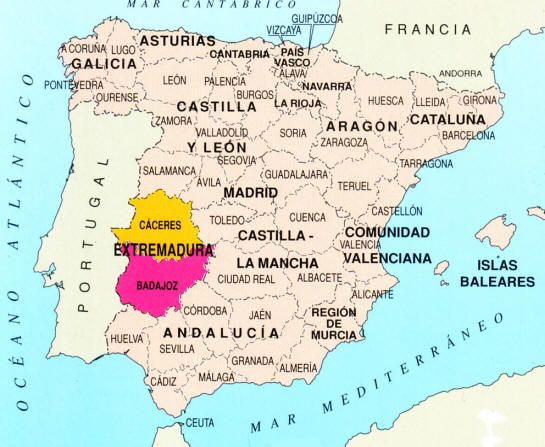 Extremadura is an autonomous community of western Spain whose