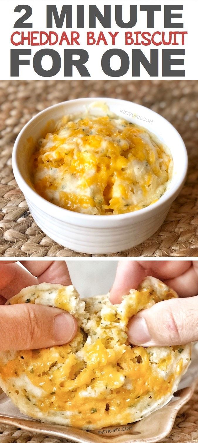 Easy Microwave Cheddar Biscuit In A Mug Recipe Like Red Lobster