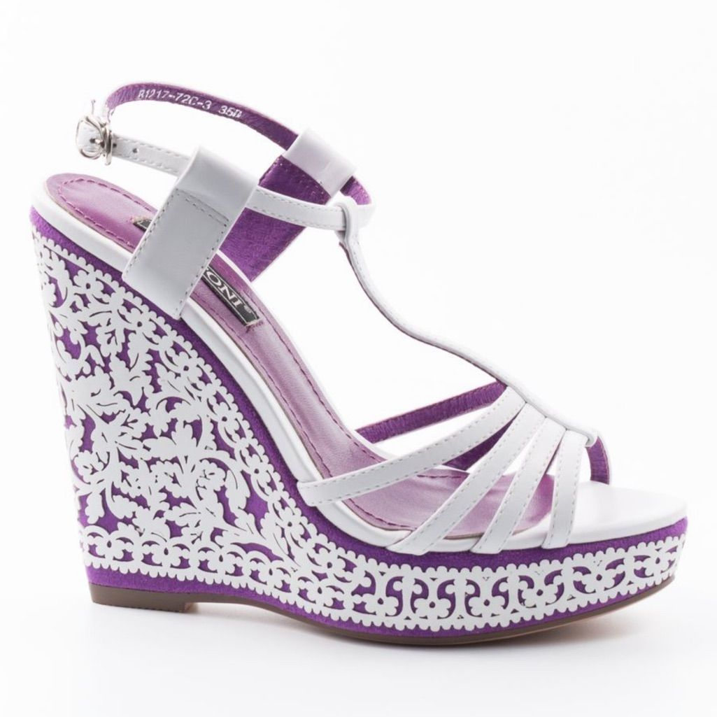 Basconi Scarpe Basconi Unico Viola Bianco Zeppa Colore Bianco Viola Taglia 5 Shoes Fashion Wedges