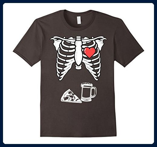 e9a682a090c85 Mens Skeleton Pizza and Beer TShirt Mens Maternity XRay Halloween Small  Asphalt - Food and drink shirts (*Amazon Partner-Link)