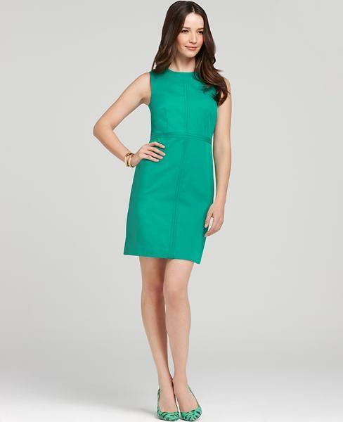 Ann Taylor Green Dress Dresses Sheath For Work