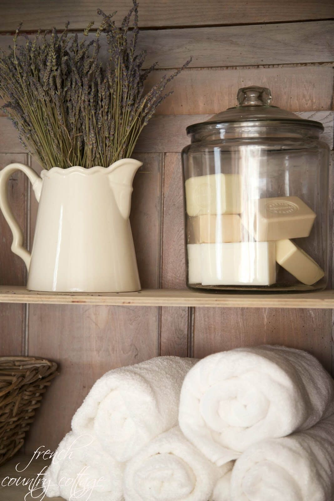 Beau French Country Bathroom Or Linen Closet Display