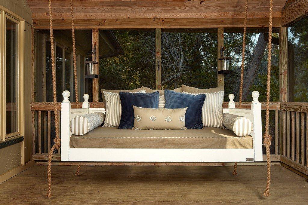 Peninsula Porch swing, Vintage porch, Indoor hammock bed