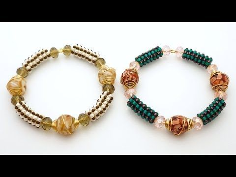 video: TheHeartBeading: Tubular Square Stitch Bracelet Tutorial - YouTube (seed beads, crystal rondelles, art eads)