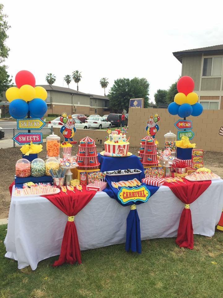 Dessert Table Circus Circus Birthday Party Theme Carnival Birthday Parties Carnival Birthday Party Theme