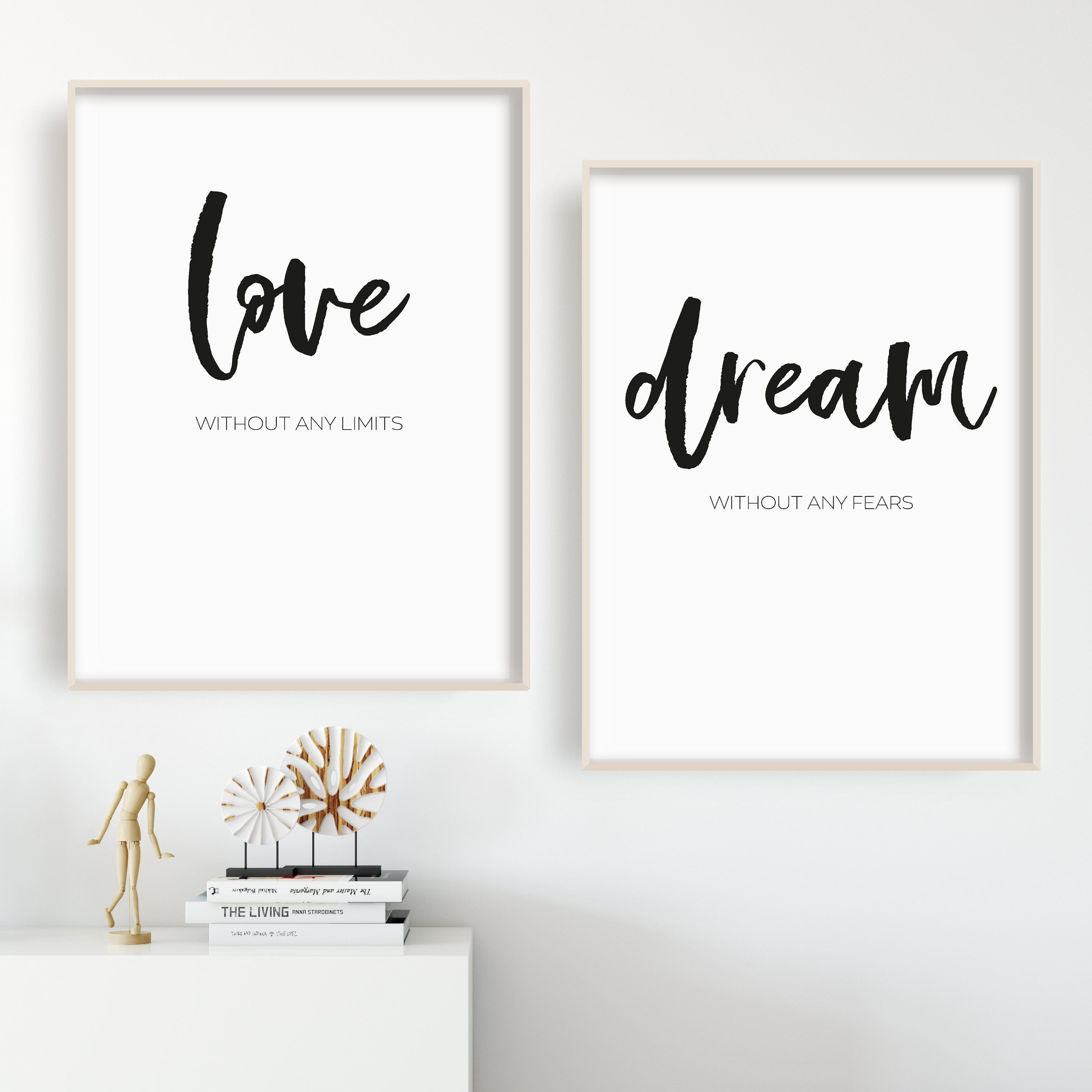 Poster set, Poster Bedroom, black and white Poster, gift for ...