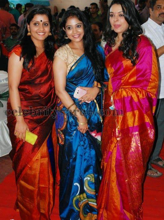 727bbc771a7c81 Malayalam Actresses in Silk Sarees