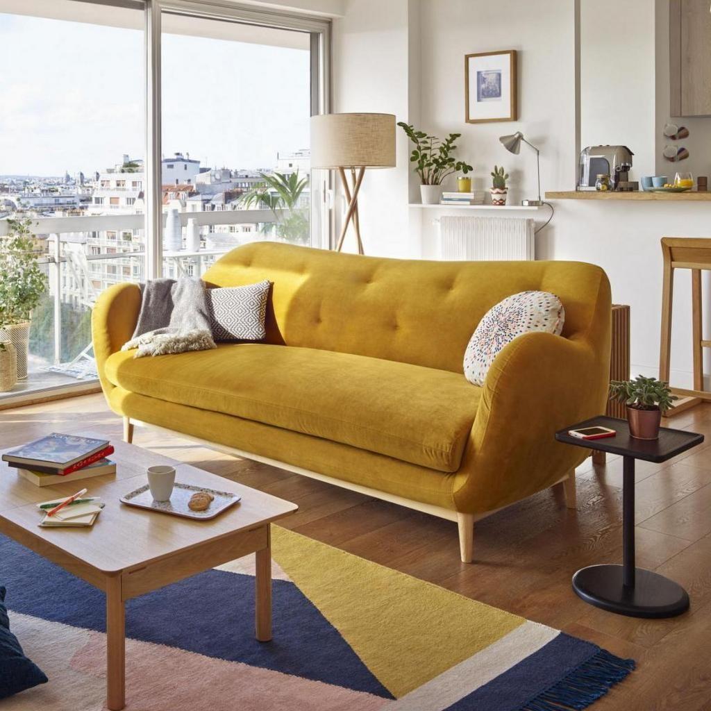 Quelle Deco Pour Un Salon Avec Un Canape Jaune Avec Images