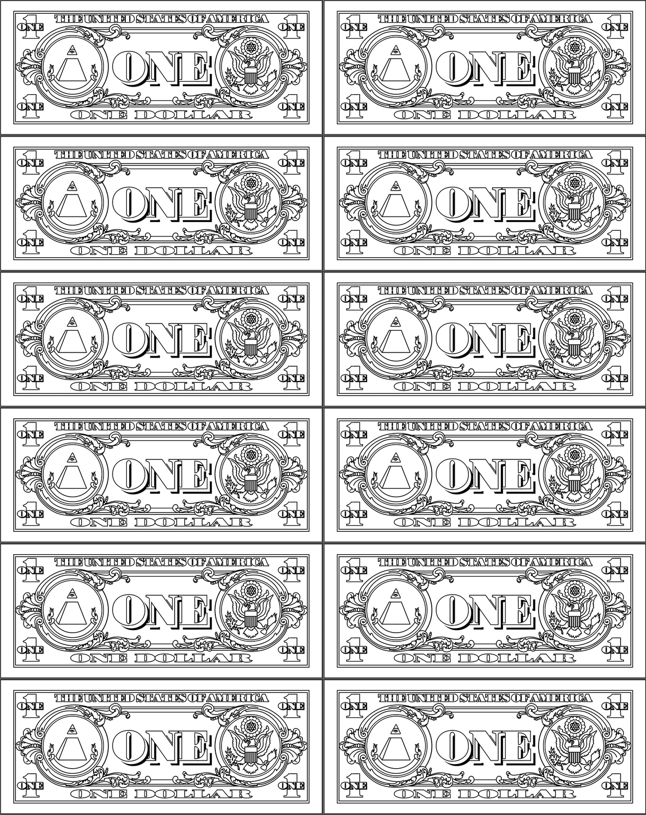 Clip Art 100 Dollar Bill Coloring Page printable money march 2017 calendar play for fun fancy stuff pinterest fun