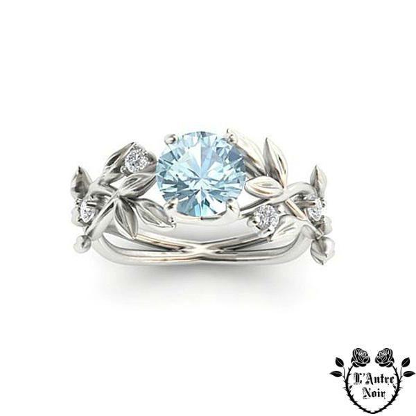 SUPERBE mariée Ovale Bleu Aquamarine Cristal Gold Eternity Anneaux Mariage Bijoux
