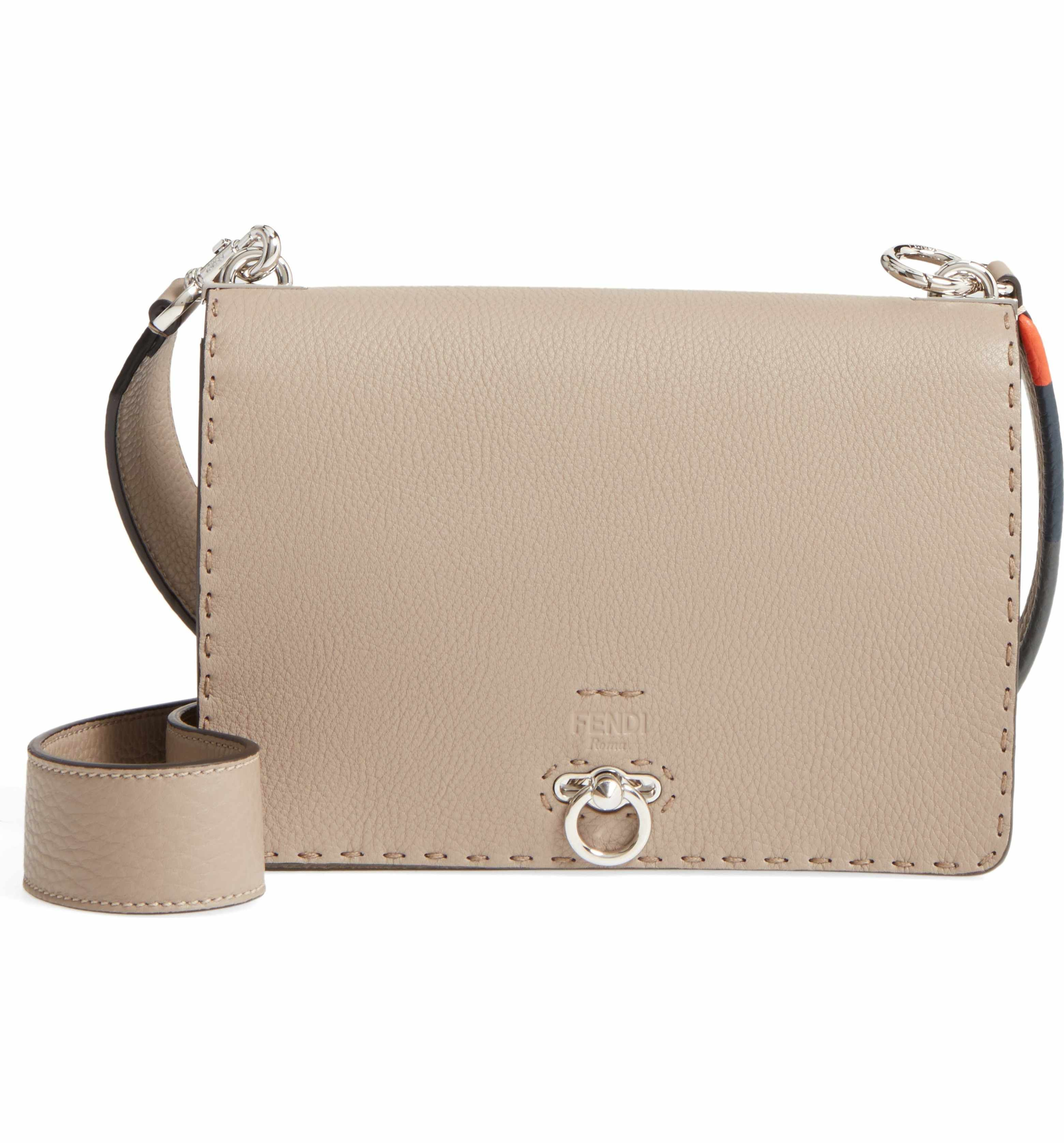 Fendi Pebbled Leather Messenger Bag  de9bad95a722a
