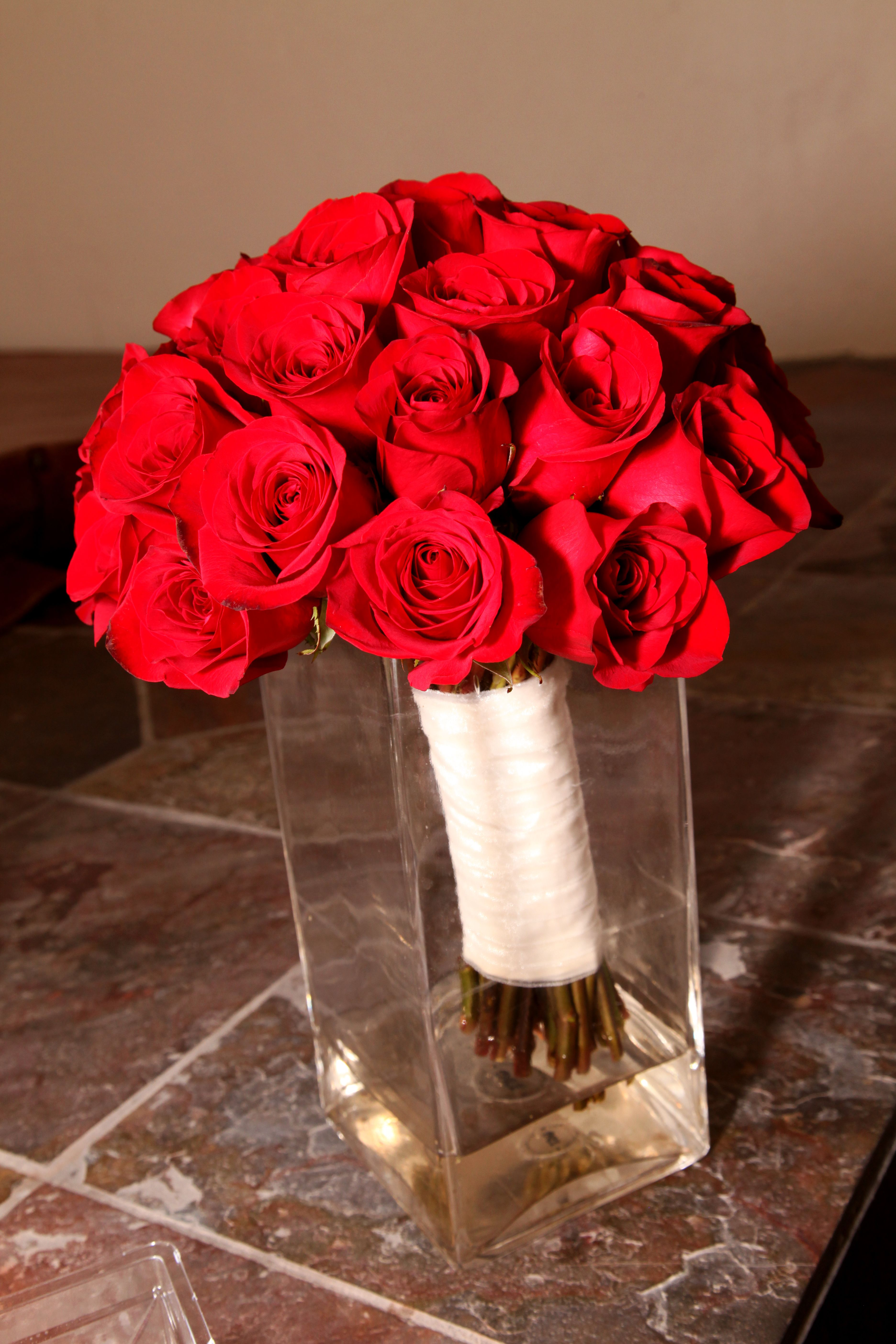 my red rose bouquet...simple, elegant and perfect