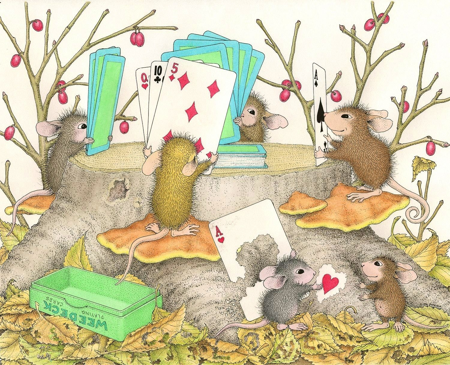 Got any two 39 s go fish cute mice souris mouton - Dessin sourie ...