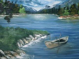 لوحات رسم فنية جميلة بسيطة تشكيلية بالرصاص Outdoor Water Coastline