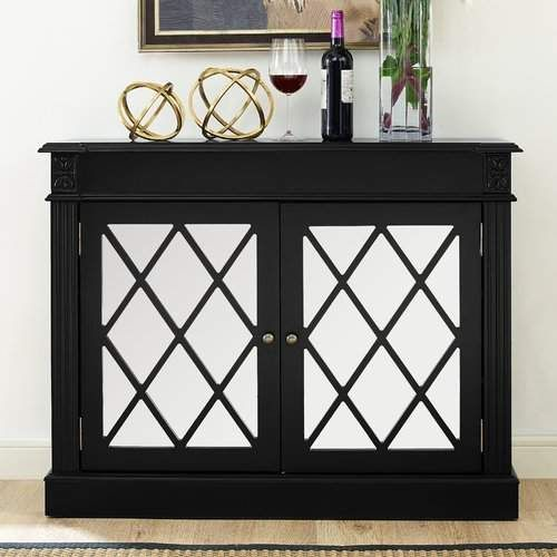 Darby Home Co Cheetham Mirrored 2 Door Accent Cabinet Accent Doors Accent Cabinet Cabinet