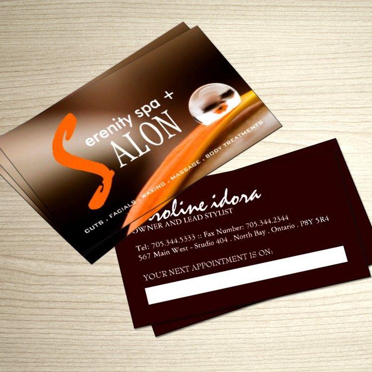 Hair Salon And Spa Business Card Template Hair Salon Business Salon Business Cards Spa Business Cards