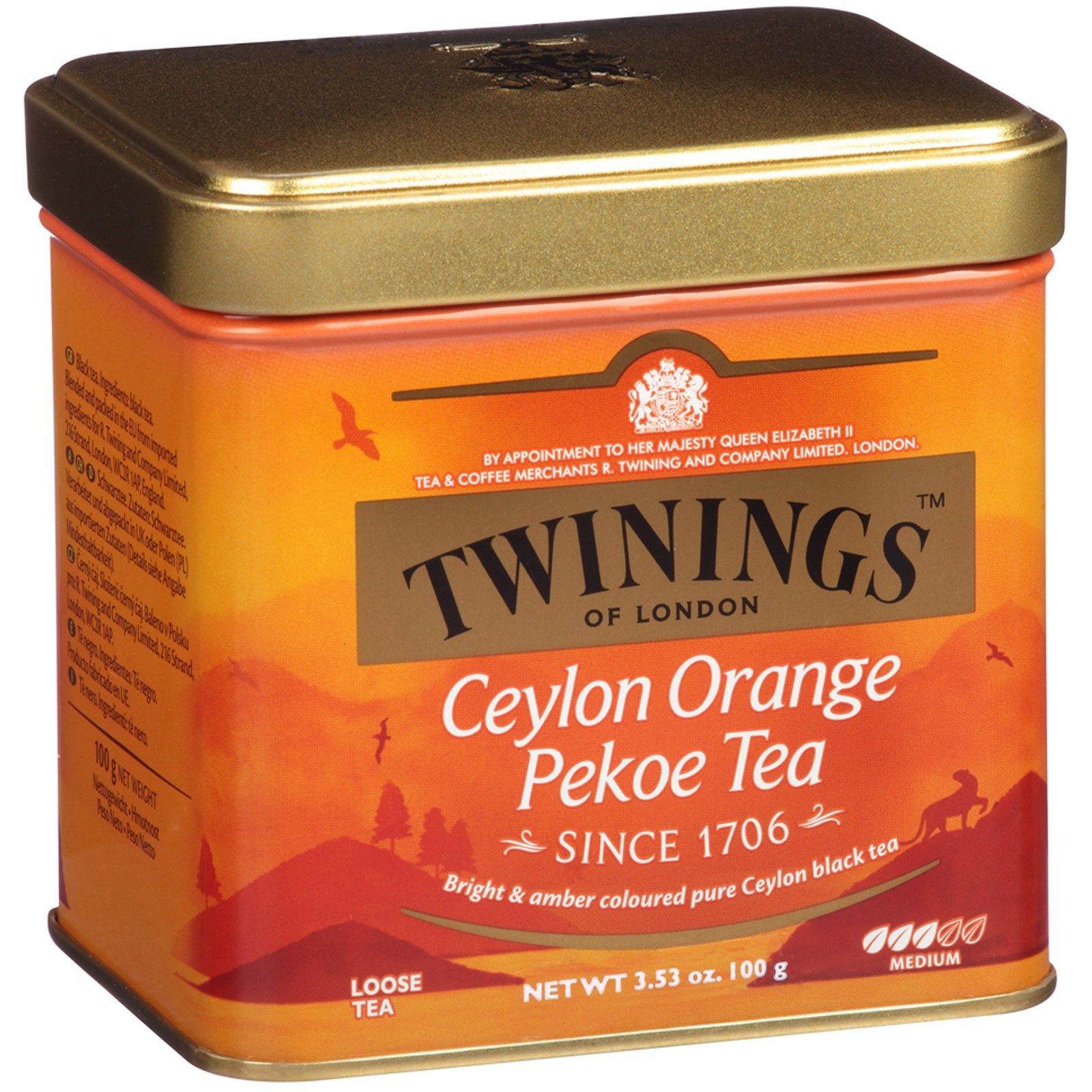 Twinings Ceylon Orange Pekoe Loose Tea Medium 3 53 Oz 100 G Discontinued Item Pekoe Tea Orange Pekoe Tea Orange Pekoe