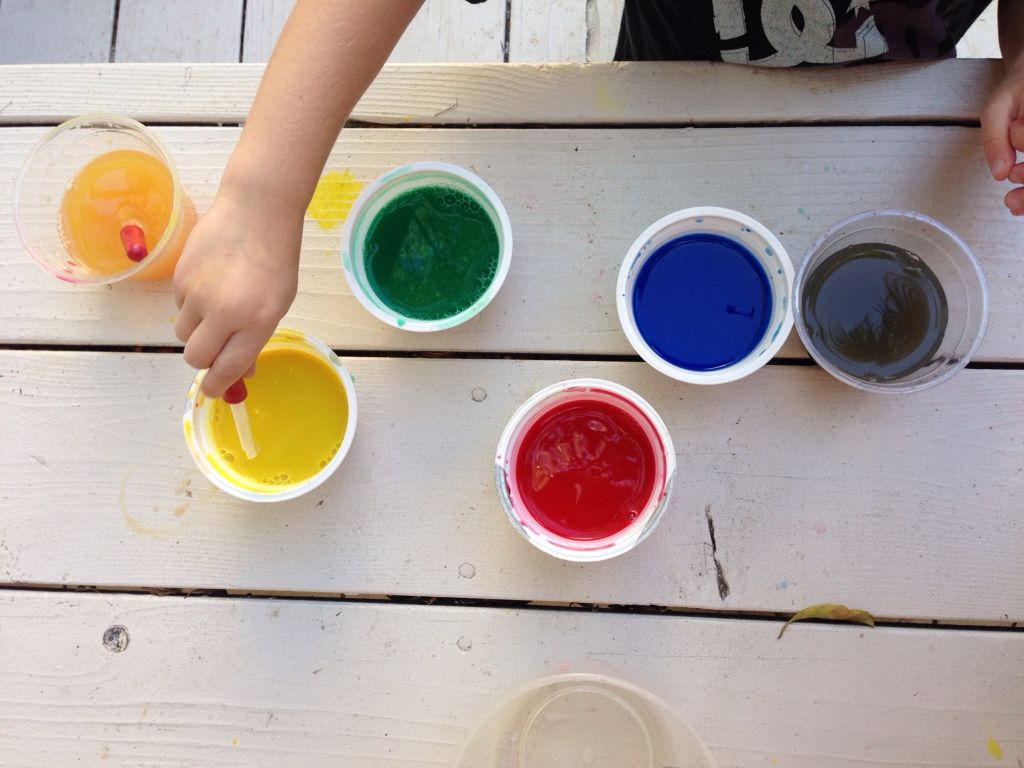 Mixing Colors With Eye Droppers