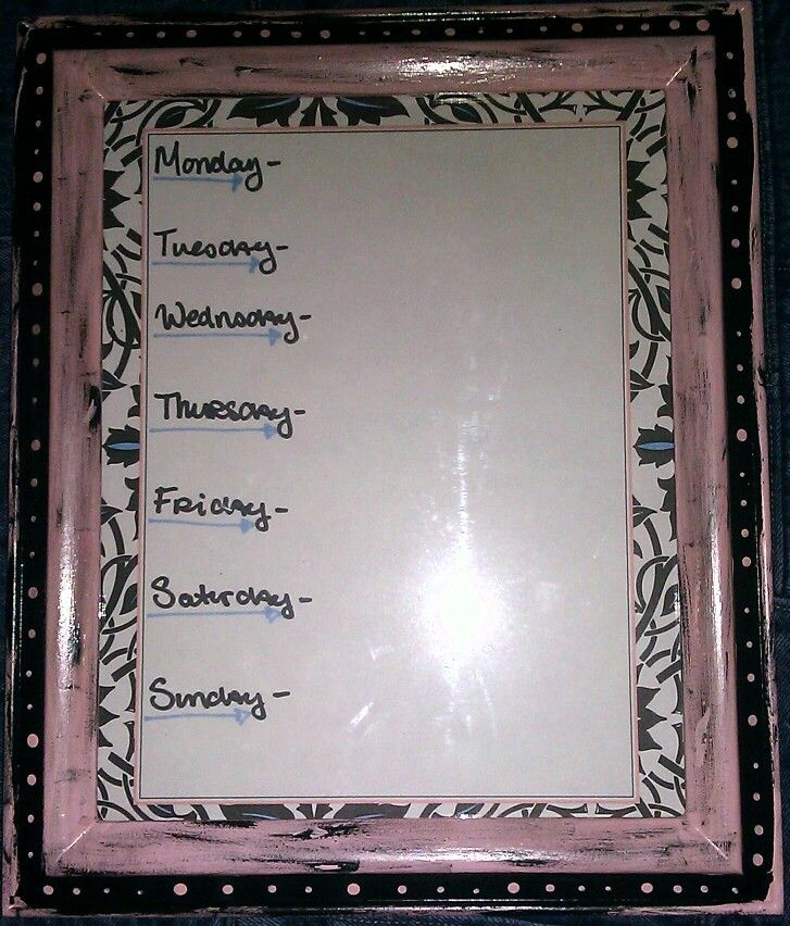 I made this! By J.Lucille Menu board for dry erase marker made out ...