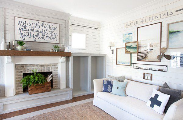 The Lettered Cottage  Living Room  Stikwoodfaced Built In Best Living Rooms With Fireplaces 2018