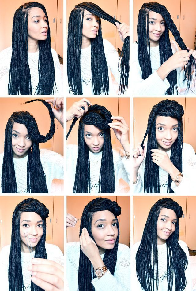 10 Instructions Directing You On How To Style Box Braids Box Braids Styling Natural Hair Styles Braids For Black Hair